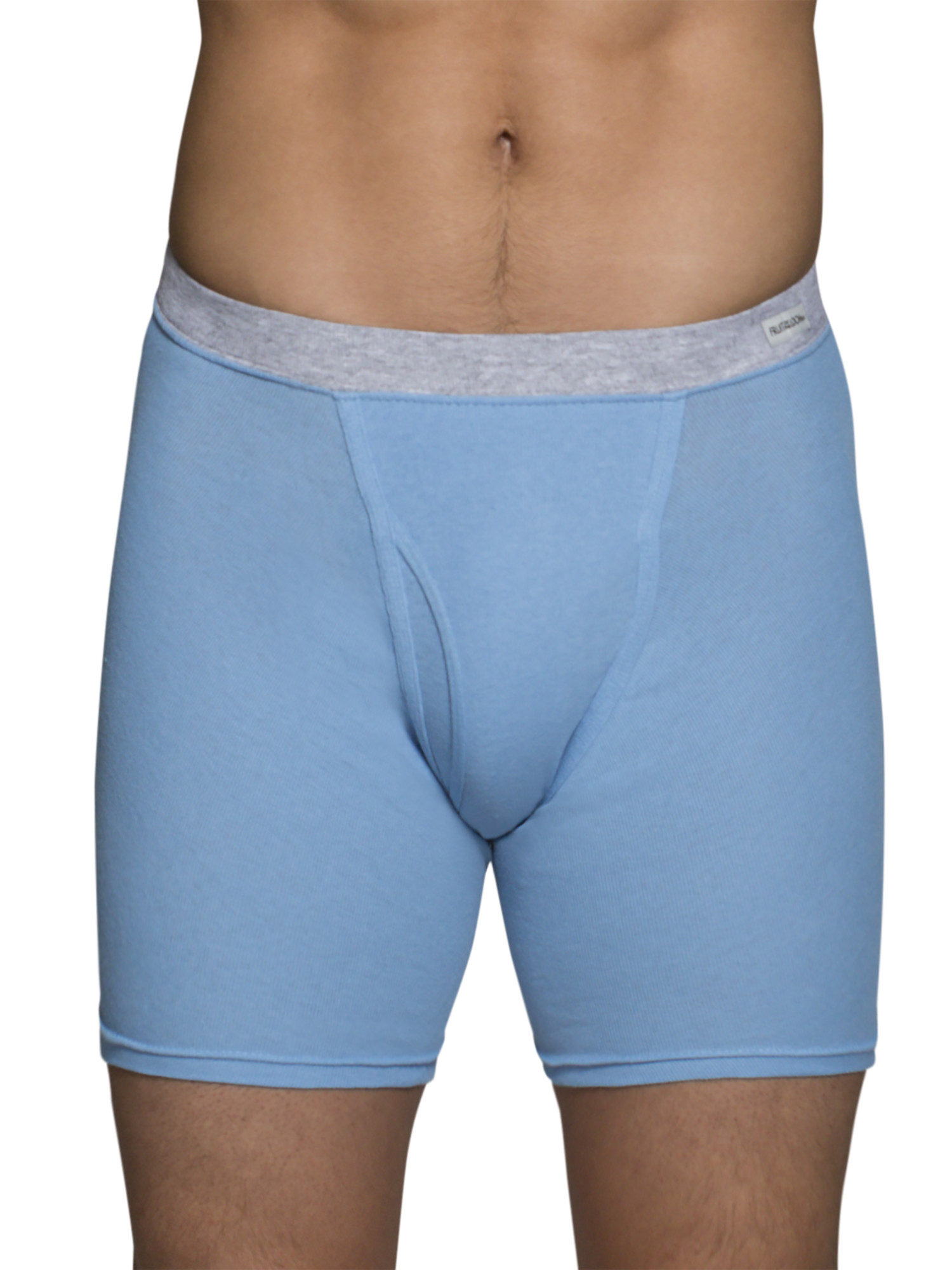 Big Men's Dual Defense Soft Covered Waistband Boxer Briefs Extended Sizes, 4 Pack