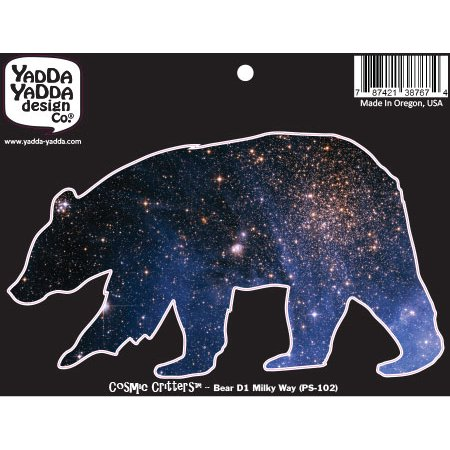 Ps 102   Cosmic Milky Way Galaxy Bear   Design 1   Peel And Stick Vinyl Decal   Copyright   Yydc  6 W X 3 5 H