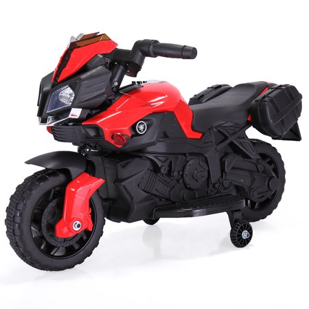 Tobbi 6V Kids Ride On Motorcycle Battery Powered 4 Wheel Car Bicycle Electric Toy New Red