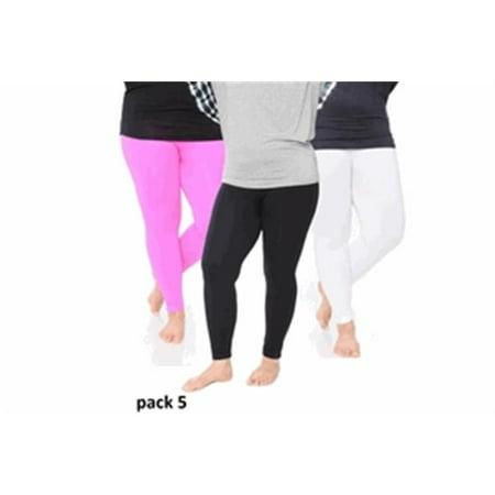 a186015667a White Mark Universal Pack 5 Womens Plus Size Legging  44  Black  44 ...