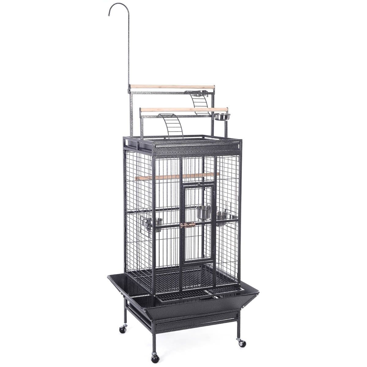 Costway Bird Cage Play Top Strong Iron Ladder Parrot Cockatoo Parakeet Pet Supply by Costway