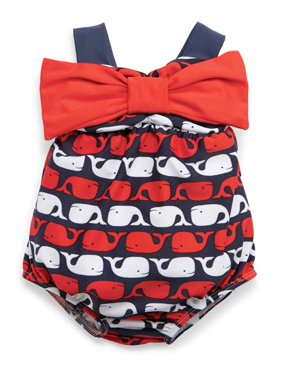Baby Girls Swimsuit : Little Whale  0-6 months