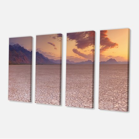 Cracked Earth in Alvord Desert - Landscape Canvas Art Print - image 3 of 3