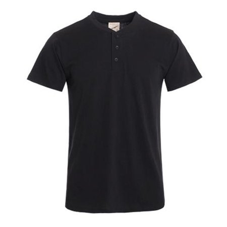 - Hawks Bay Men's Short Sleeve Henley T-shirt Black Xx-large