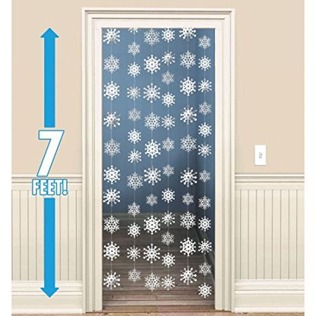 Amscan Winter Wonderland Christmas 3-D Snowflake Hanging Party Decoration (Pack Of 1), White, 14 1/4