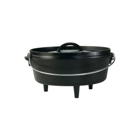 Lodge Logic 2 Quart Seasoned Cast Iron Camp Dutch Oven, L8CO3