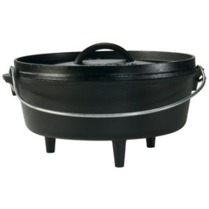 Lodge 2-Quart Cast Iron Camp Dutch Oven, L8CO3