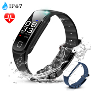 AGPTEK Waterproof Heart Rate Monitor Smart Watch Swimming Fitness Bracelet Health Tracker Activity Wristband Pedome