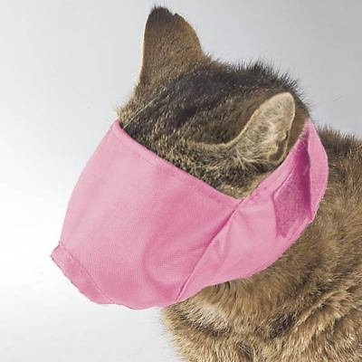 Soft Adjustable Cat Muzzles Perfect For Grooming Three Colors and Muzzle Sizes(Small Pink)