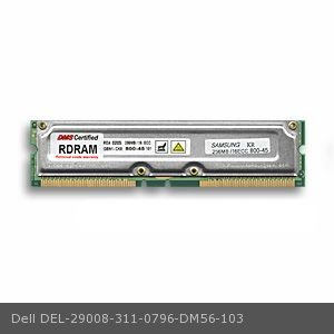 DMS Compatible/Replacement for Dell 311-0796 Precision Workstation 420 256MB DMS Certified Memory ECC 800MHz PC800 184 Pin RIMMs (RDRAM) - DMS