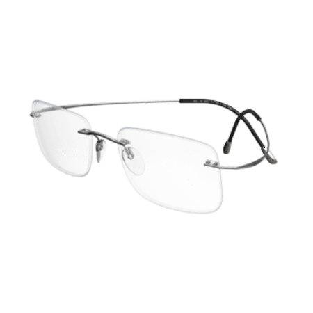 7eeca7ec19 Silhouette Eyeglasses TMA Must Collection Chassis 5515 7010 Silver Optical  Frame - Walmart.com
