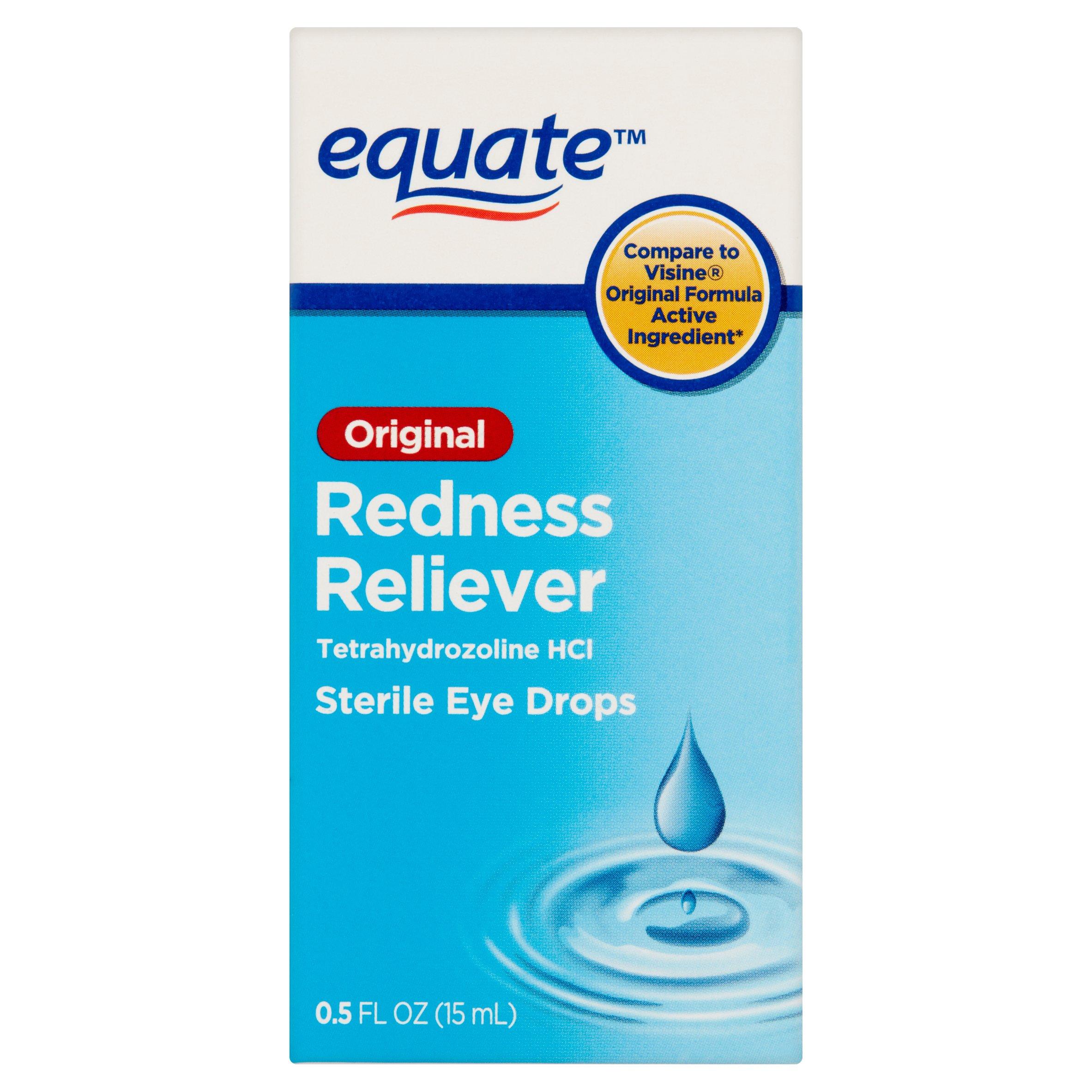 Equate Original Redness Reliever Sterile Eye Drops, 0.5 Oz