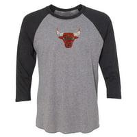 fb519148 Product Image Chicago Bulls Women's Rhinestone Raglan 3/4-Sleeve T-Shirt -  Gray