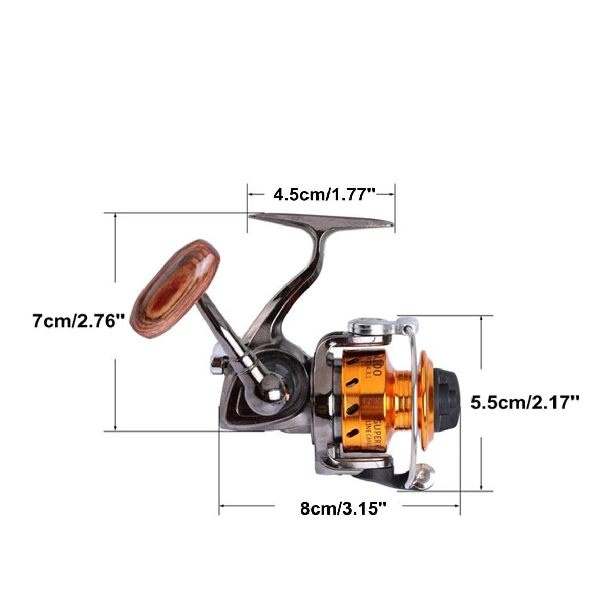 Mini Fishing Reel Metal Coil Ultra Light Small Spinning Reel 4.3:1 Ice Pen Rod