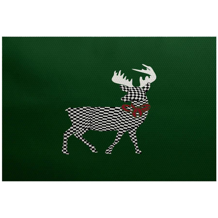 Simply Daisy 3' x 5' Merry Deer Animal Print Indoor Rug