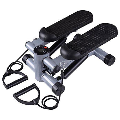 MegaBrand Fitness Gym Mini Twister Stair Stepper w/ Bands Black