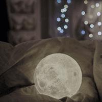 iLH 3D USB LED Magical Moon Night Light Moonlight Table Desk Moon Lamp Gift 10cm
