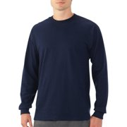 Platinum Eversoft Men's Long Sleeve Crew T Shirt with Rib Cuffs, up to Size 4XL