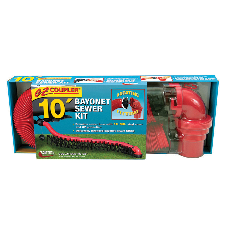 Valterra D04-0114 EZ Coupler Bayonet Sewer Hose Kit - 10'