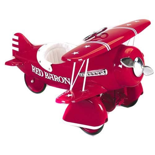 Airflow Collectibles Red Baron Plane Pedal Riding Toy