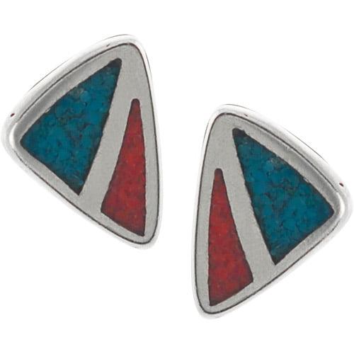 Brinley Co. Genuine Multi-Stone Sterling Silver Stud Earrings