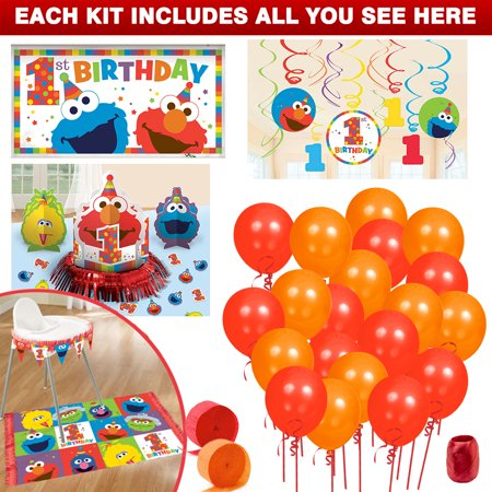 Elmo Turns One Decoration Kit - Elmo Party Decorations