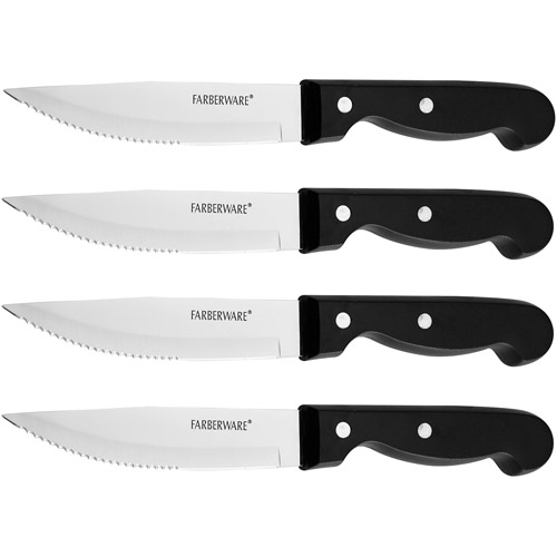 "Farberware Jumbo Steak House 4.5"" Steak Knife Set, 4 Piece"