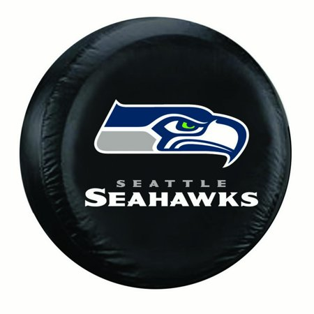 Seattle Seahawks NFL Spare Tire Cover (Standard) (Black) by