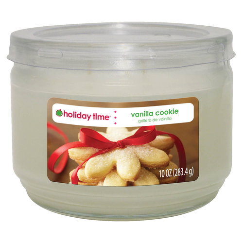 Holiday Time 10-oz Jar Candle, Vanilla Cookie
