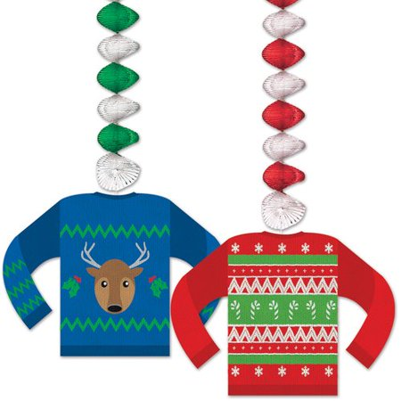 The Holiday Aisle 2 Piece Ugly Sweater Dangler Set