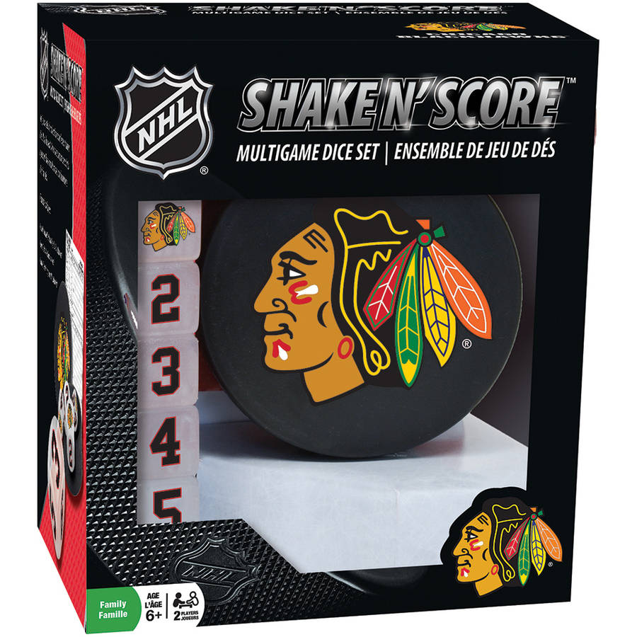 MasterPieces NHL Chicago Blackhawks Shake n' Score Dice Game
