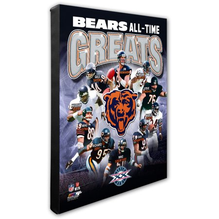 """Chicago Bears 16"""" x 20"""" All-Time Greats Canvas - No Size"""