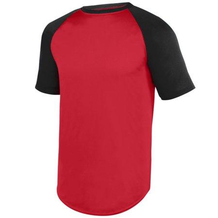 Augusta Yth Wicking Ss Baseball Jersey Red/Blk S - image 1 de 1