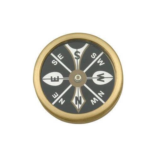 Marble Knives 223 Large Pocket Compass with Brass Body Multi-Colored