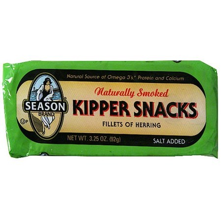 - Season Naturally Smoked Fillets Of Herring Kipper Snacks, 3.25 oz (Pack of 24)