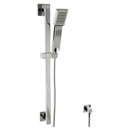 Borhn B51515 Flexible Hose Hand Shower Kit with Slide Bar