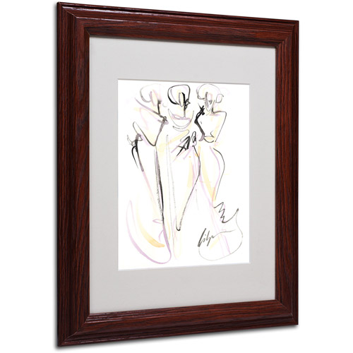 "Trademark Fine Art ""Muses"" Framed Canvas Art by Jennifer Lilya, Wood Frame"