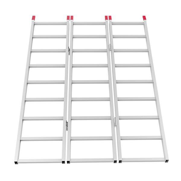 Yaheetech 69'' Tri-Fold Aluminum Folding Loading Ramp for ATV Motorcycle Truck Trailer Lawnmower, 1500lb Capacity