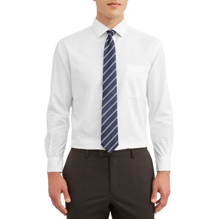 Silver Label Men's Long Sleeve Dress Shirt With Matching Tie