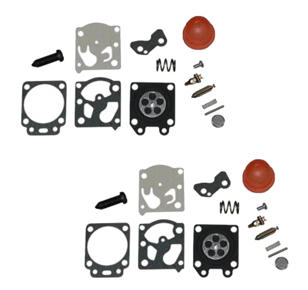 Weed Eater Poulan Craftsman Trimmer (2 Pack) Replacement Carburetor Repair Gasket Kit # 530069842-2PK