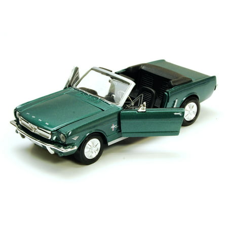 1964 Ford Owners Manual - 1964 1/2 Ford Mustang Convertible, Green - Motormax 73212 - 1/24 scale Diecast Model Toy Car