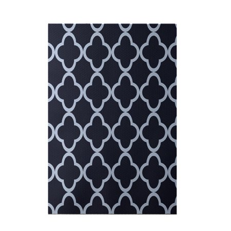E by design marrakech express geometric print navy indoor for Geometric print area rugs