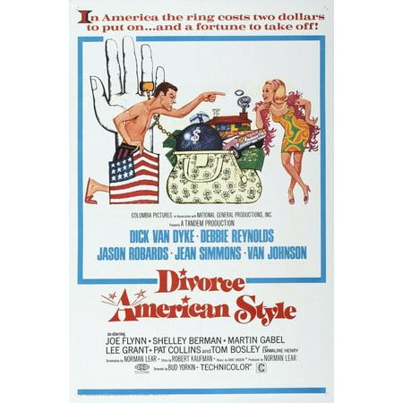 Divorce American Style Us Poster Dick Van Dyke Debbie Reynolds 1967 Movie Poster Masterprint