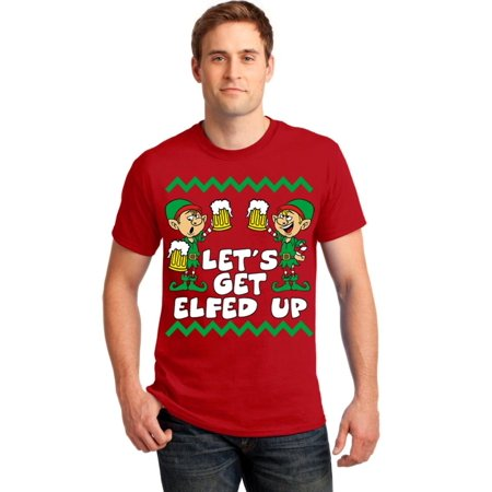 Get Elfed Up Christmas Men's T-shirt, S, Red - Elf Promotion Code