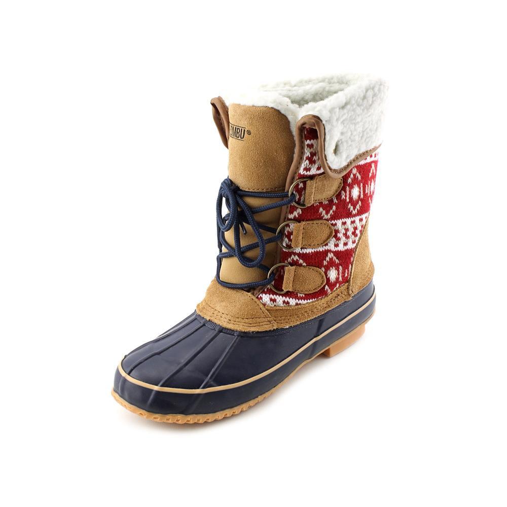 Womens Khombu Maya Short Winter Boots Red Blue by Khombu