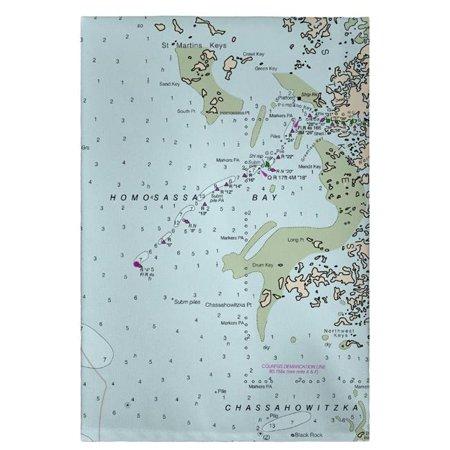 Mlb Mvp Crystal (Betsy Drake GT11409CR 20 x 20 in. Crystal Bay to Homosassa Bay, MD Nautical Map Guest Towel )