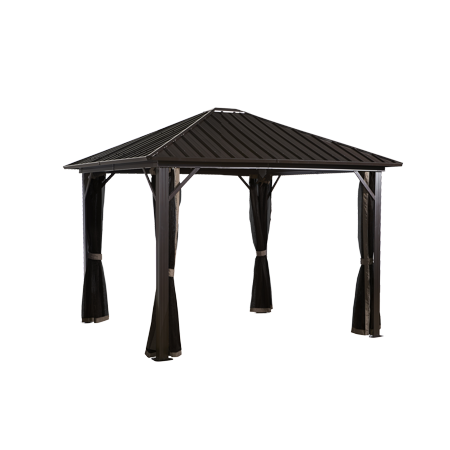 Sojag GENOVA Gazebo, Galvanised Steel Roof & Mosquito Netting, Multiple Sizes