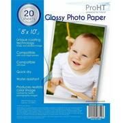 "Inland ProHT 20-Sheet Glossy Photo Paper, 8"" x 10"""