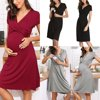 Womens Pregnancy Maternity Short Dress Solid Breastfeeding Nursing Dresses US