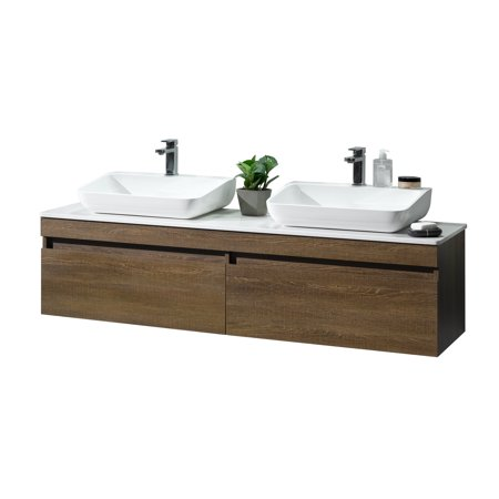 Dyconn faucet rovigo 63 bathroom vanity with countertop - Walmart bathroom vanities with sink ...